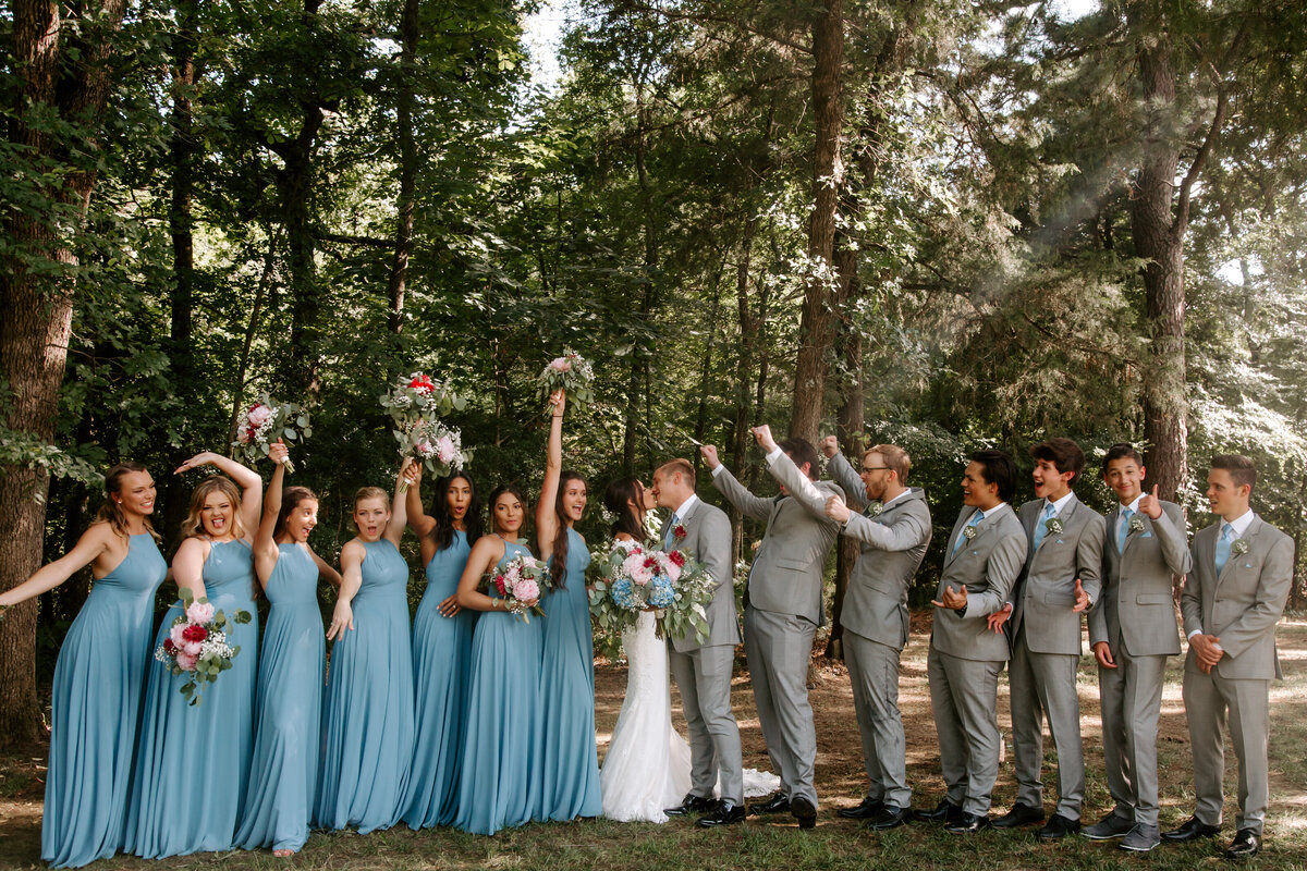 The Springs Rockwall TX Nimbus Events Blue Gray Wedding Party Fun
