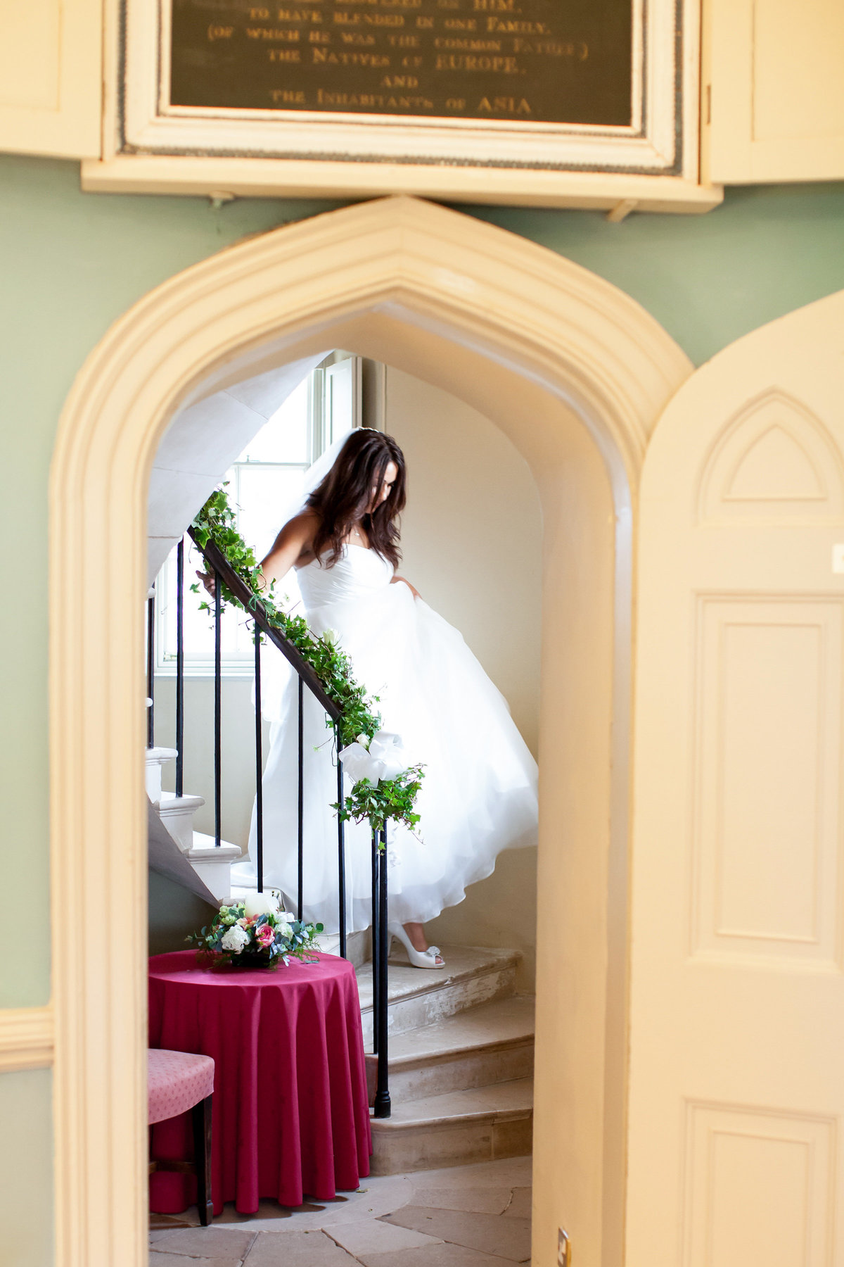 bride in doorway at haldon belvedere