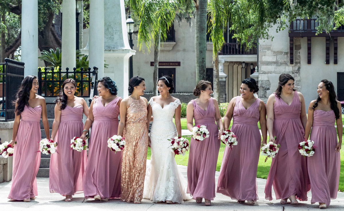 Lee Bridal Party Walking