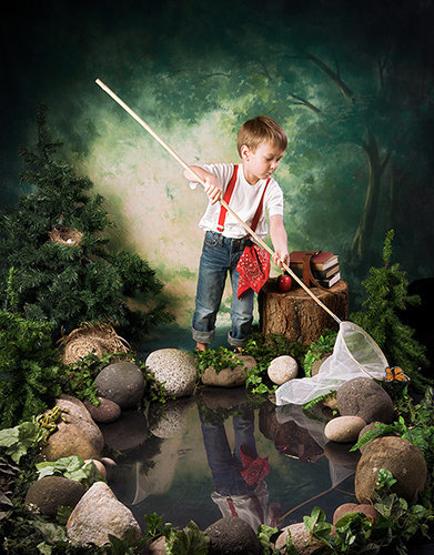 Enchantment boy photography-boy catching butterflys