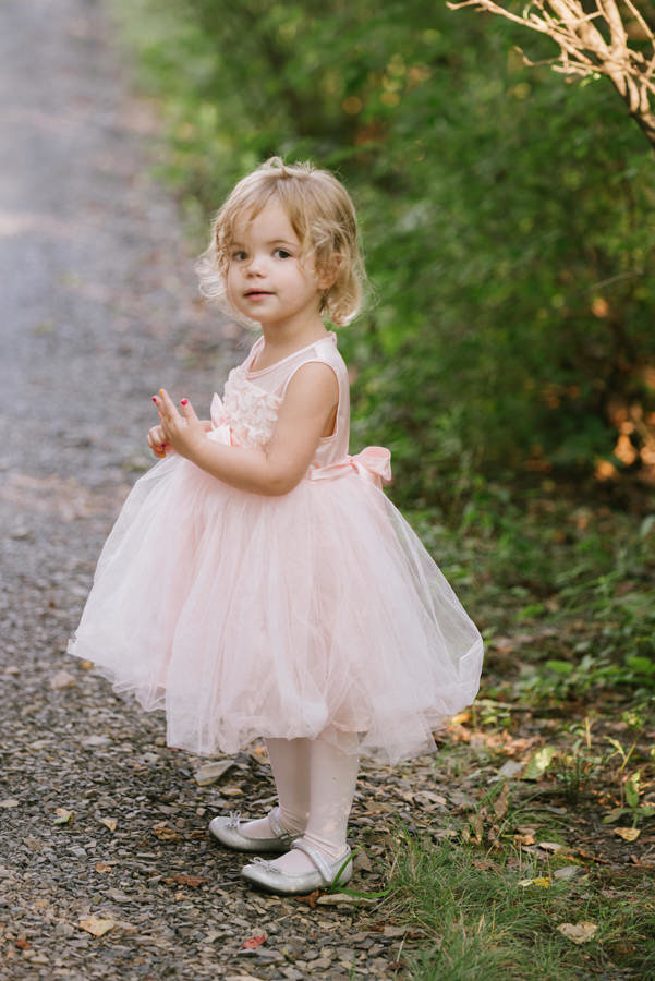 cute flower girl at upstate ny wedding