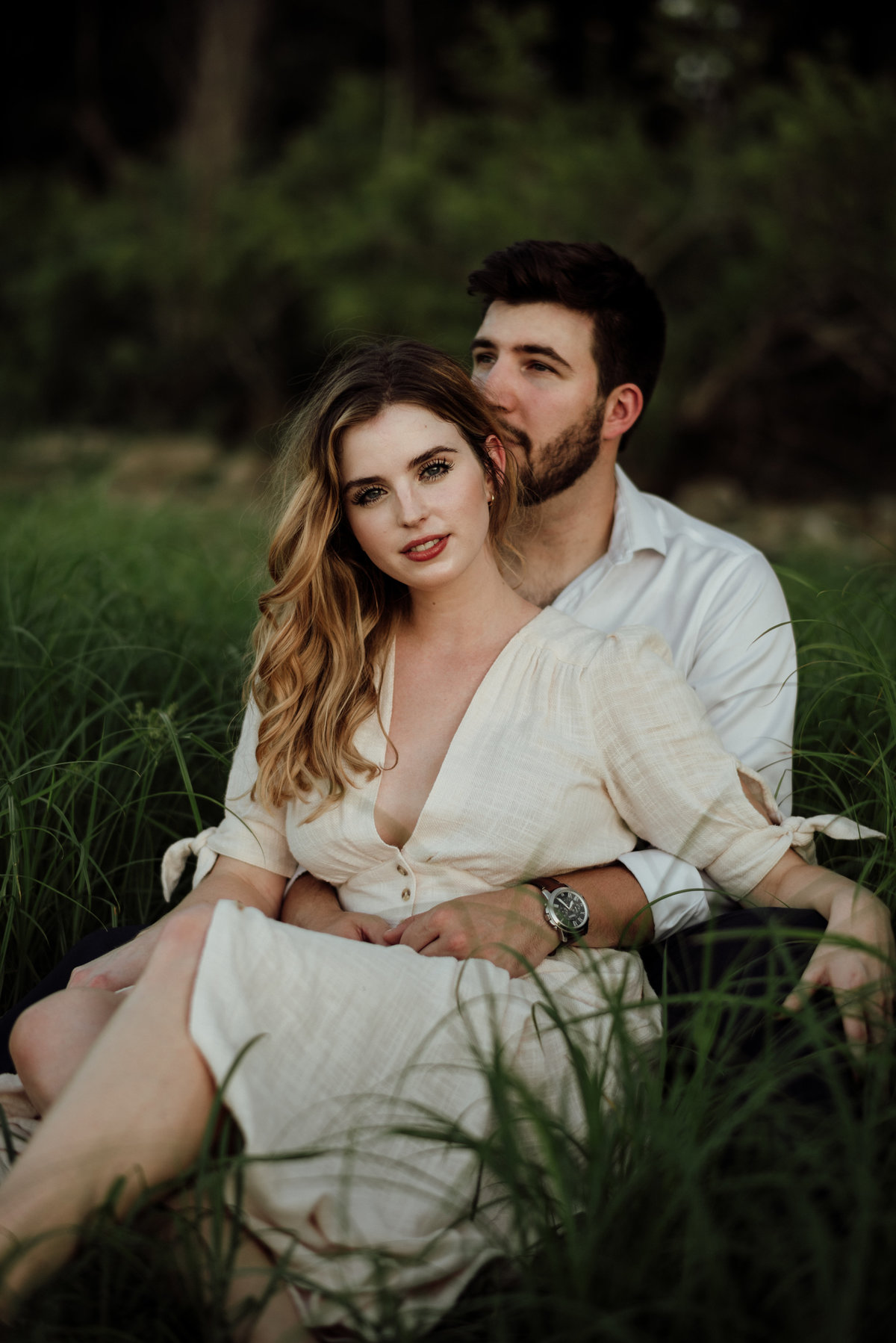 dallas outdoor engagement session