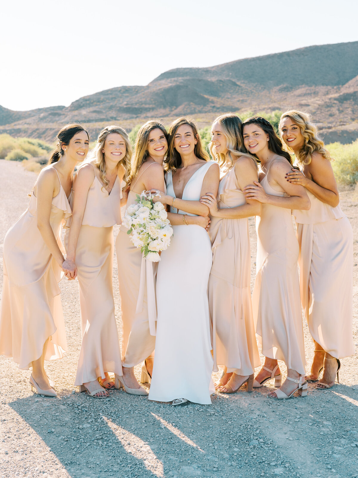 bride-and-bridesmaids-reflection-bay
