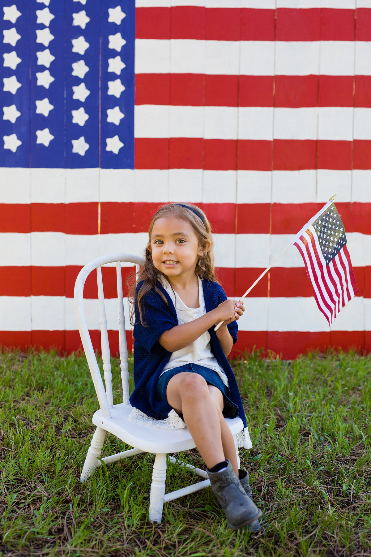 Photo shoot girl 4th of July