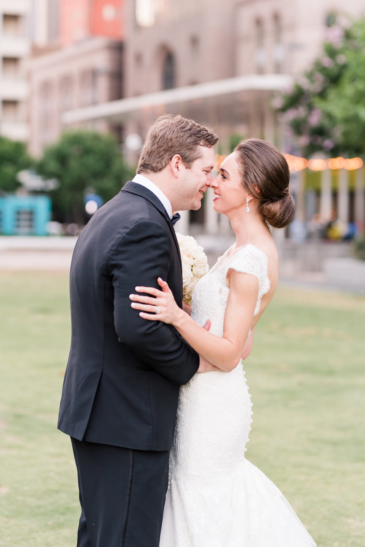 Downtown Dallas Bride and Groom