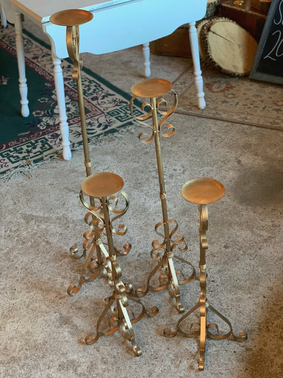 gold floor candlesticks