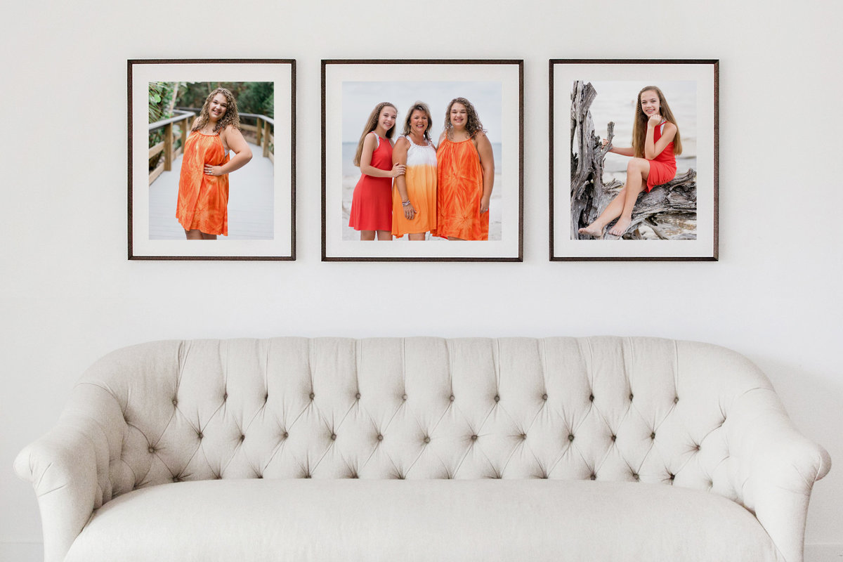 Picture Frame Mockup - Orange