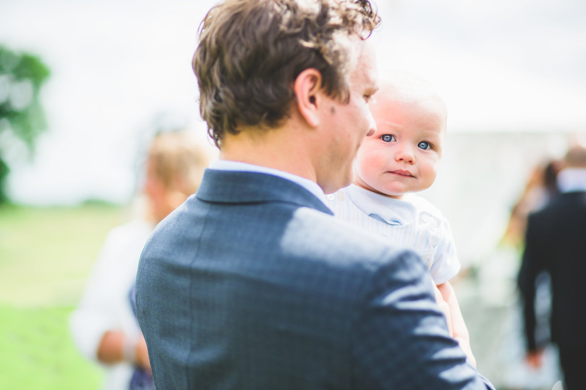 blue eyed baby wedding