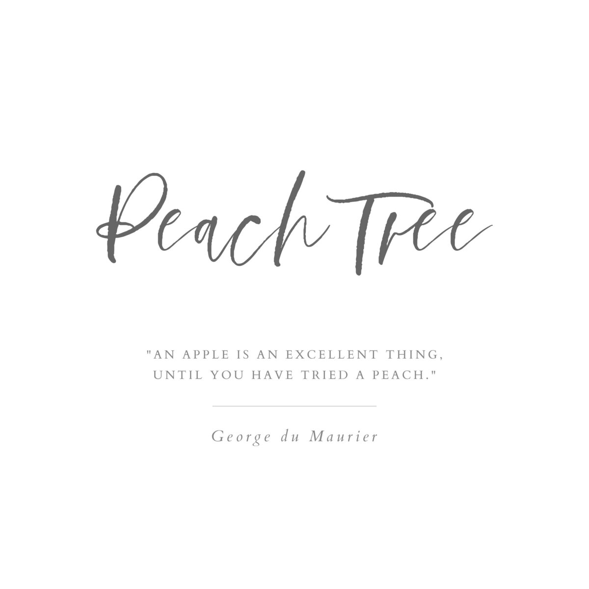 Peach Tree_Title Page