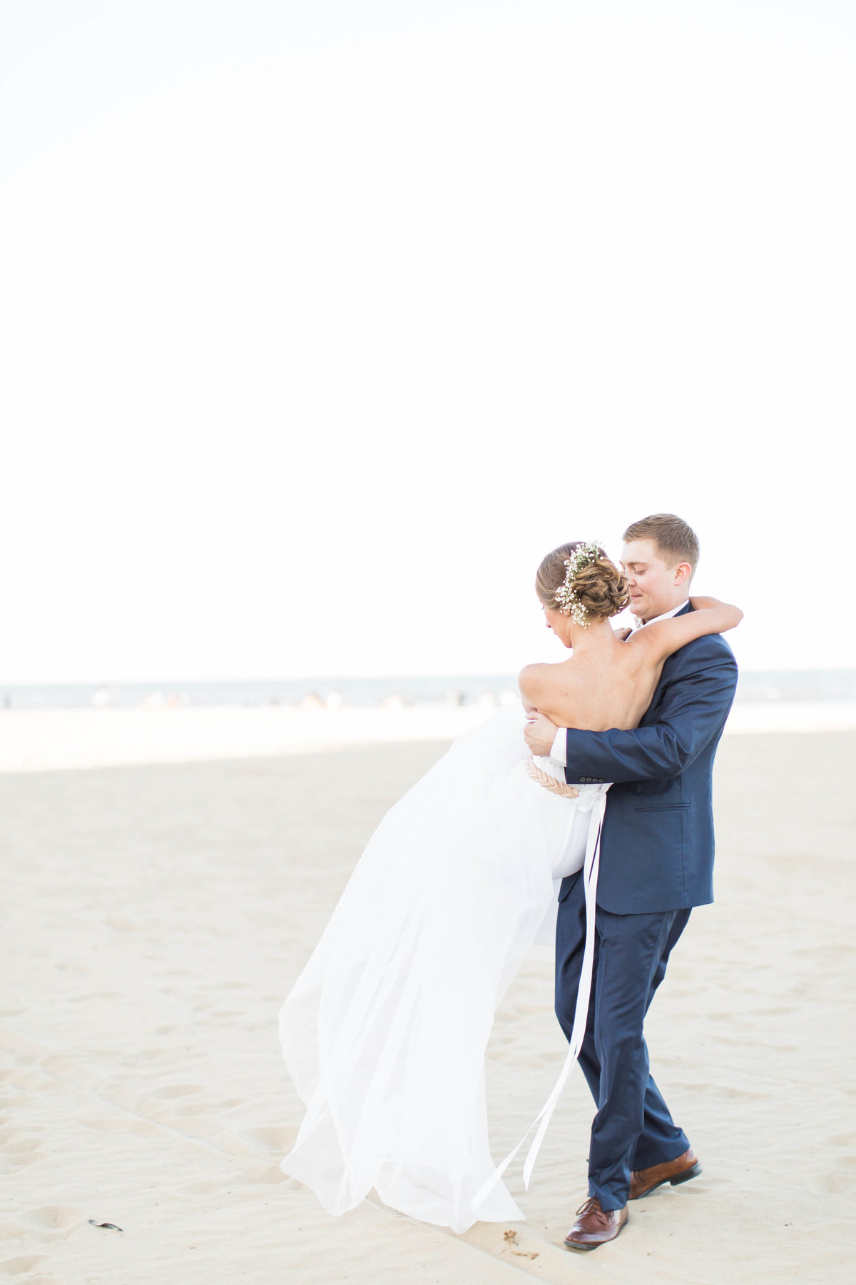 Virginia Beach romantic wedding day photo