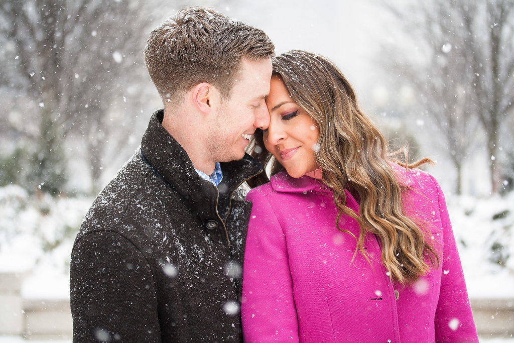 Millennium Park Chicago Illinois Winter Engagement Photographer Taylor Ingles 21