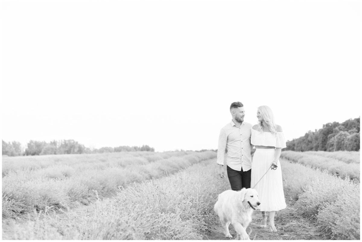 Light-and-Airy-Ottawa-Wedding-Photographer-Black-and-white-La-Maison-Lavende-Romantic-Lavender-Field-Engagement
