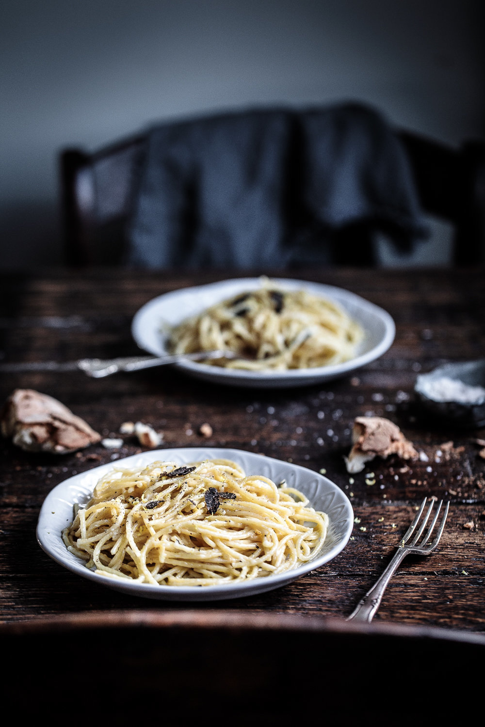 Spaghetti with Black Truffle, Parmigiano and Lemon | Anisa Sabet | The Macadames-11-10