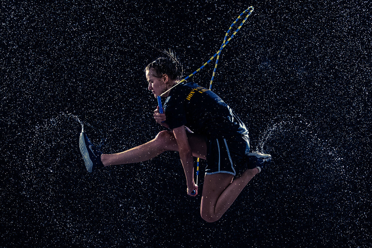 Denver Senior Photo Jump Rope Rain