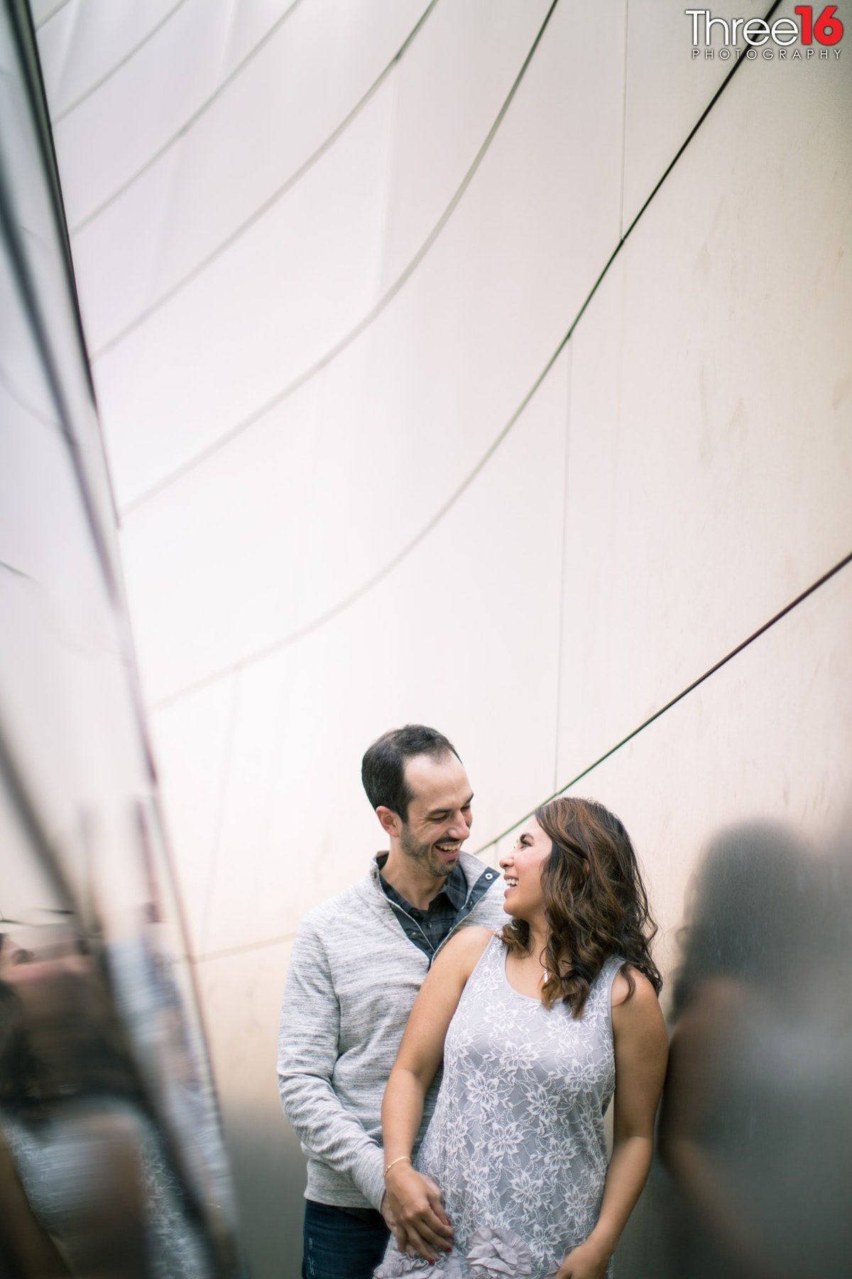 Walt Disney Concert Hall Engagement Photos Los Angeles County Weddings Professional Photographer