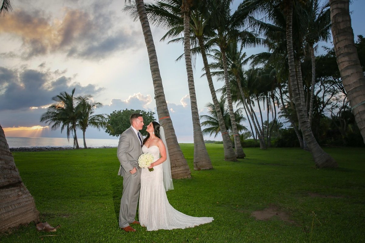 Capture Aloha Photography at The Westin Maui Resort and Spa with bride and groom at sunset