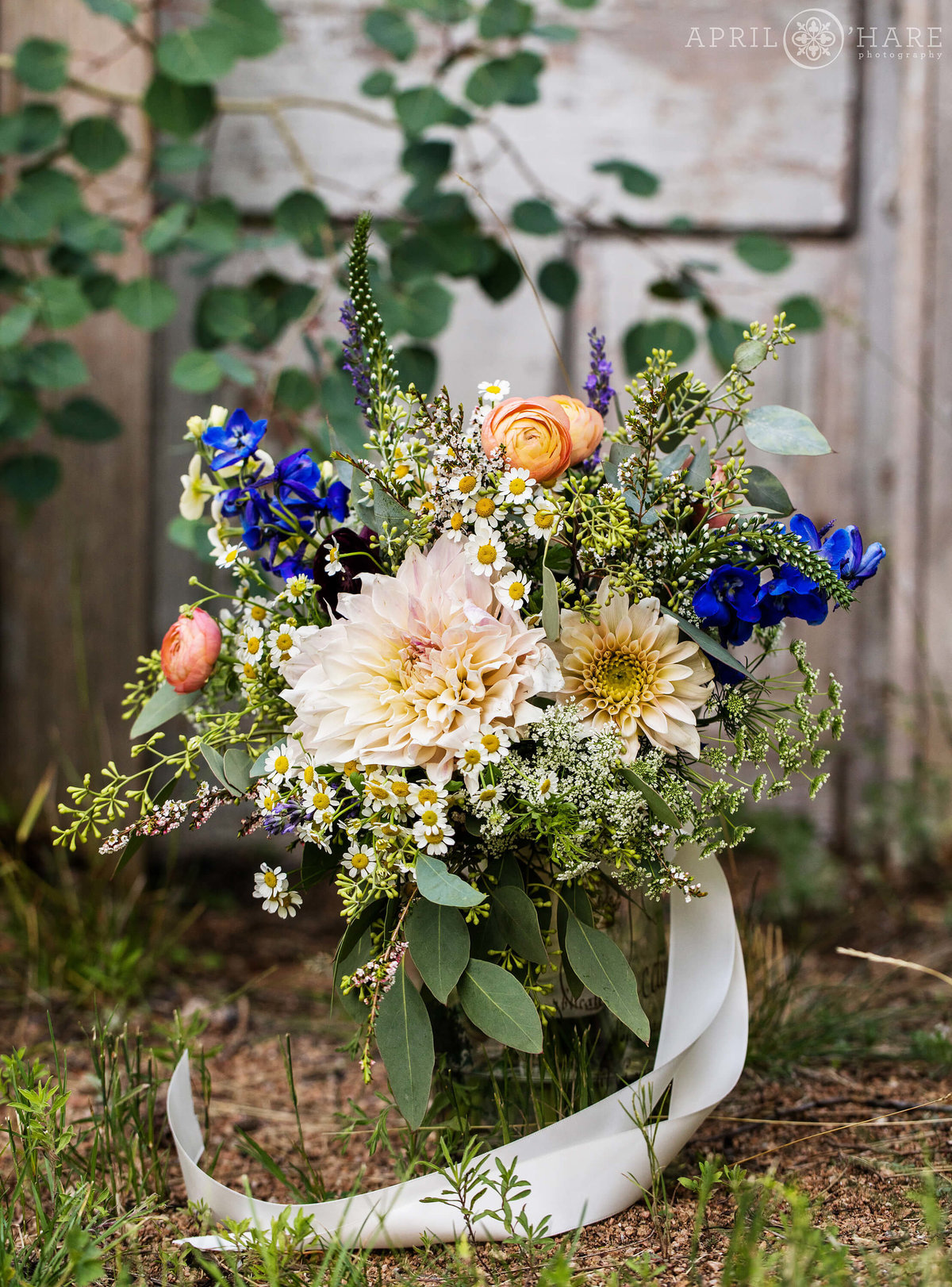Pretty wildflowers for a rustic mountain wedding in Colorado