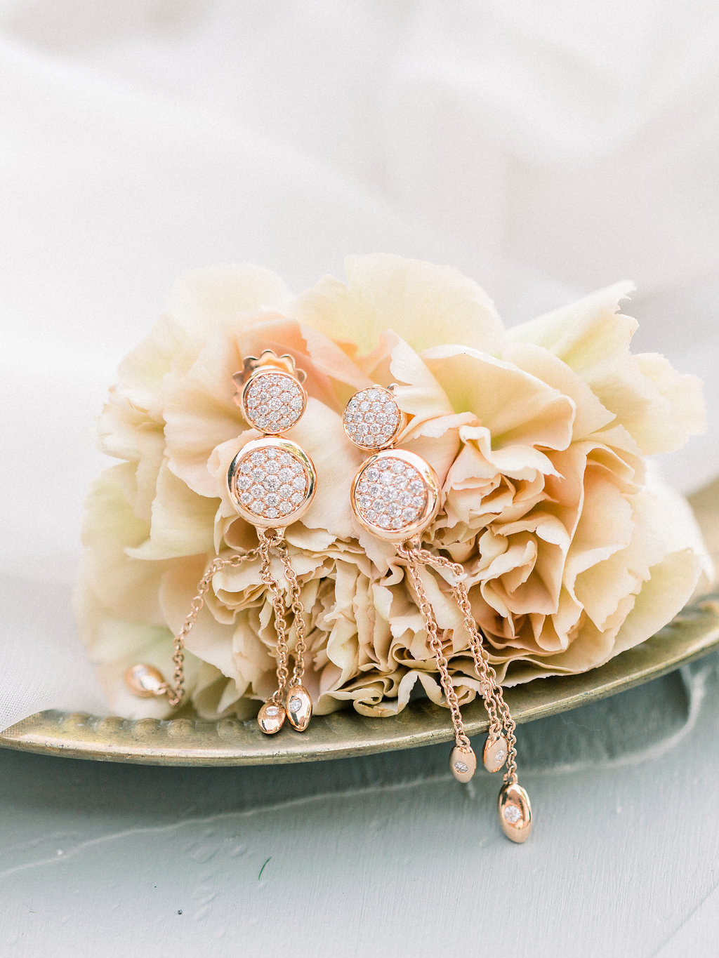 Summer Wedding Tyler Gardens Philadelphia earrings