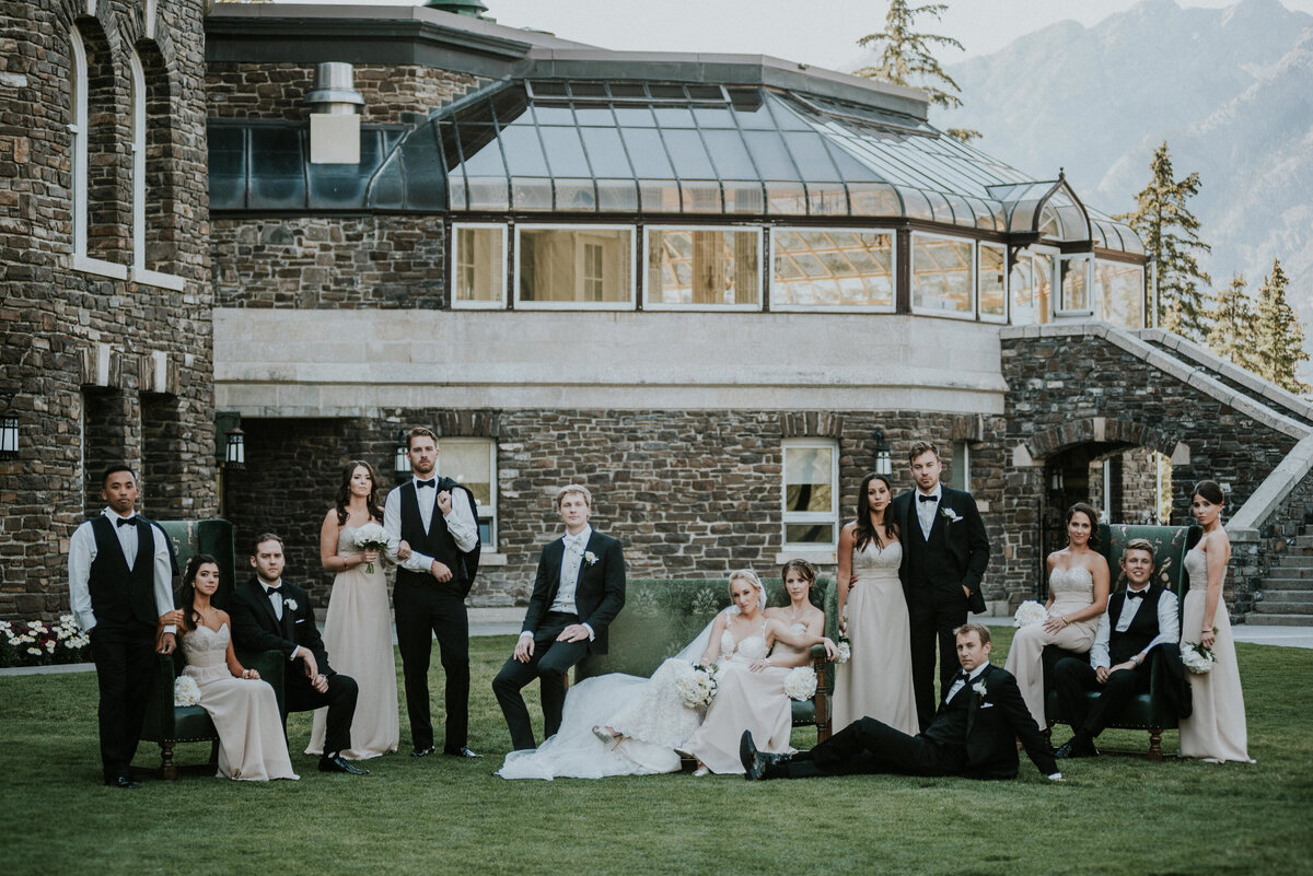 Fairmont Banff Springs Wedding Party Photo Ideas