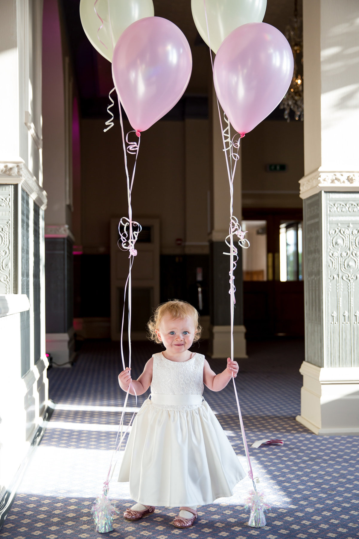 cute bridesmaid at woolacombe bay hotel wedding