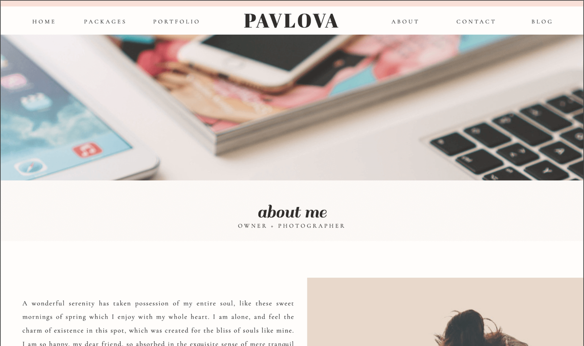 Pavlova Showit Website Template desktop_4