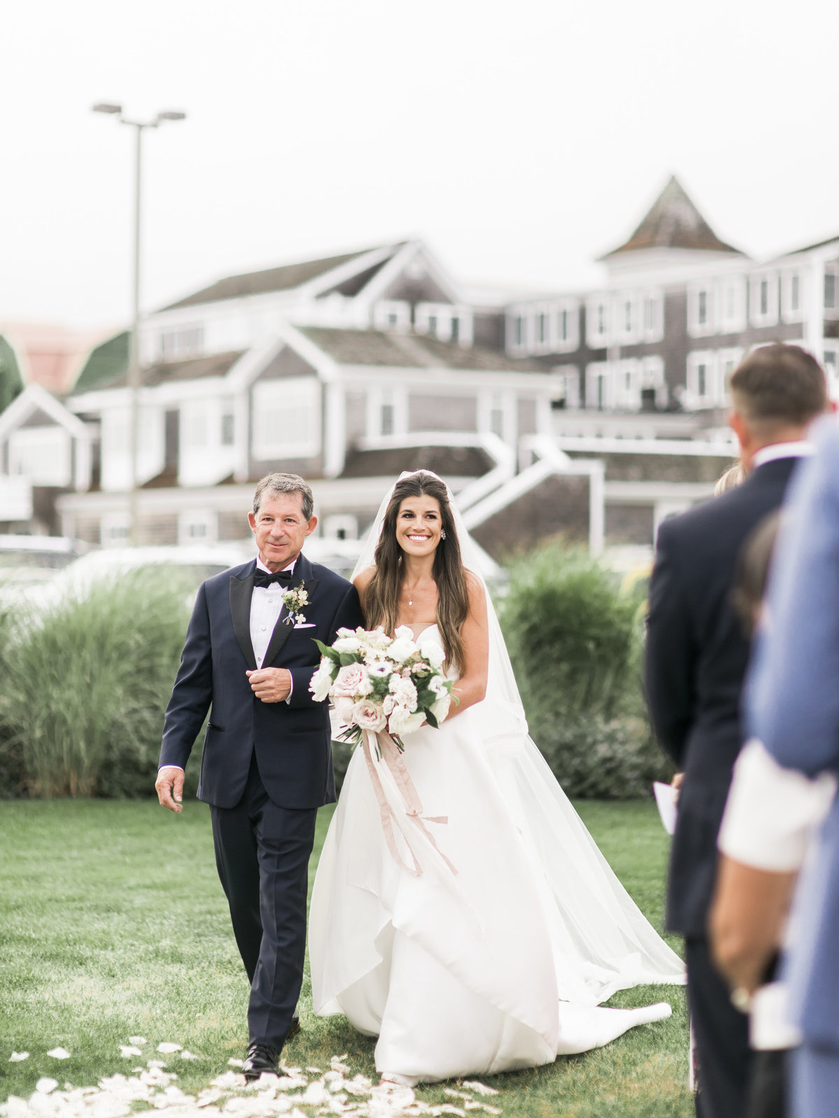 Luxury wedding ceremony on Cape Cod