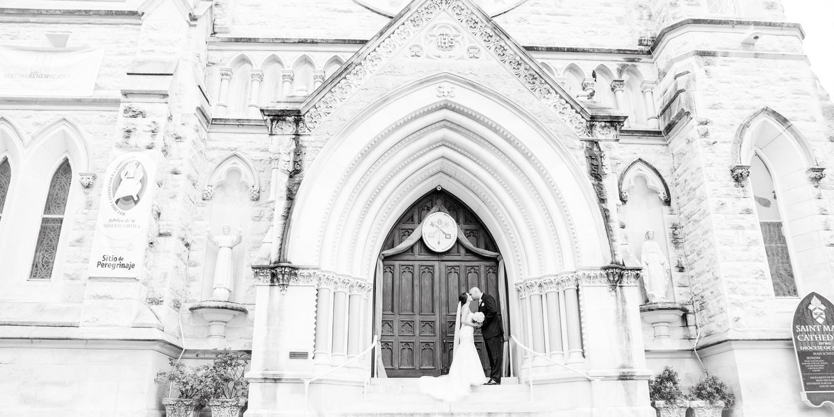 saint mary cathedral wedding photographer austin texas downtown sheraton hotel bride groom