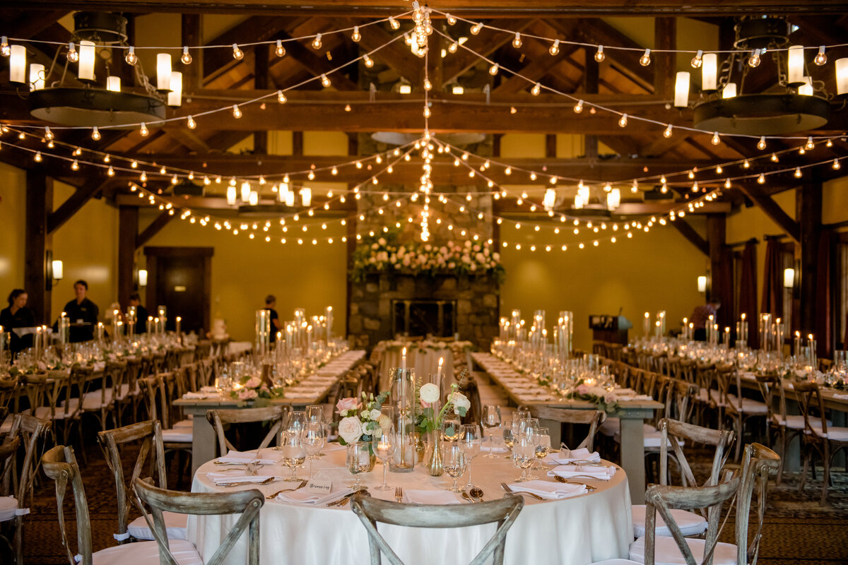 Silvertip Resort Wedding Reception Setup - Canmore Wedding Planner