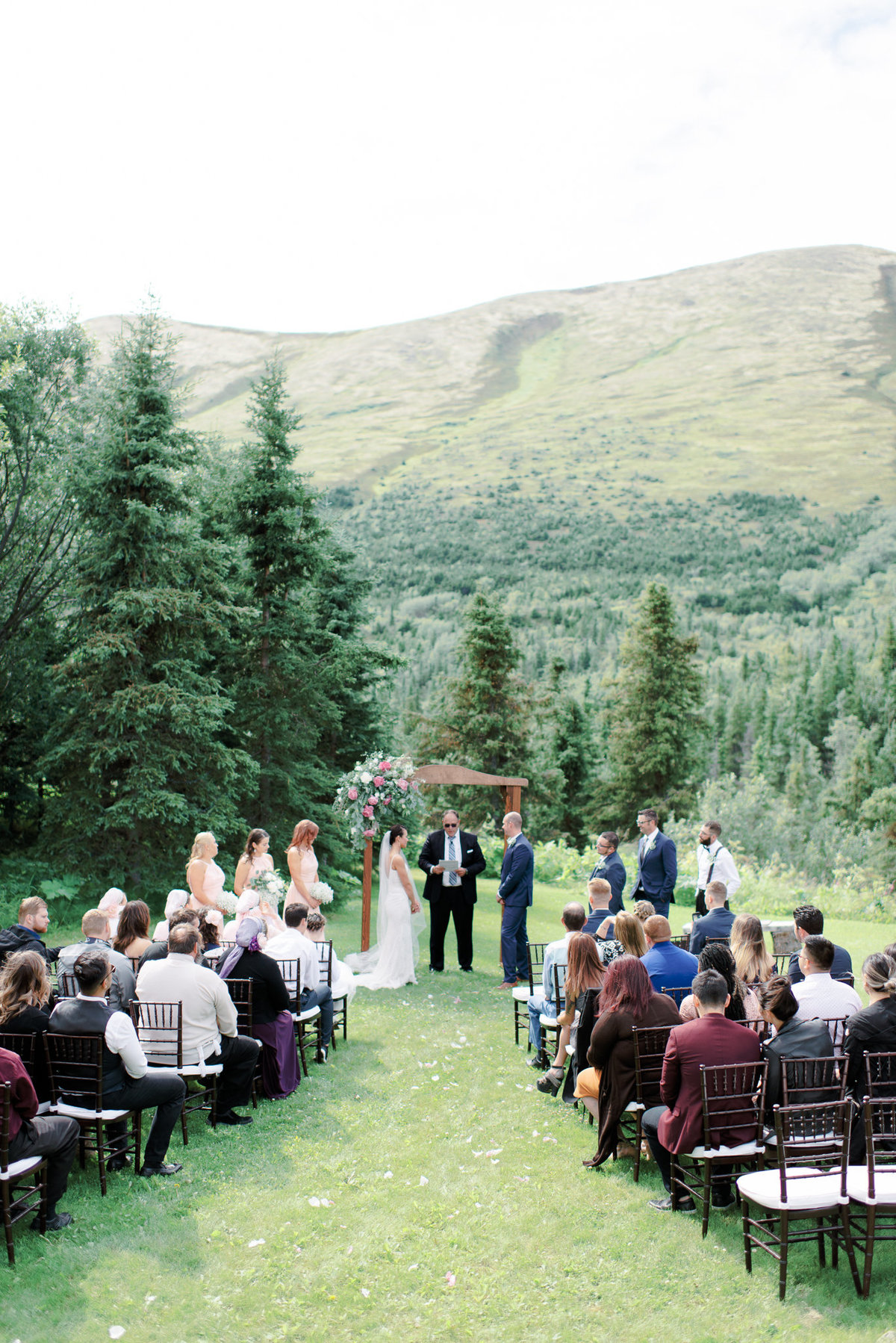 Alaska wedding ceremony