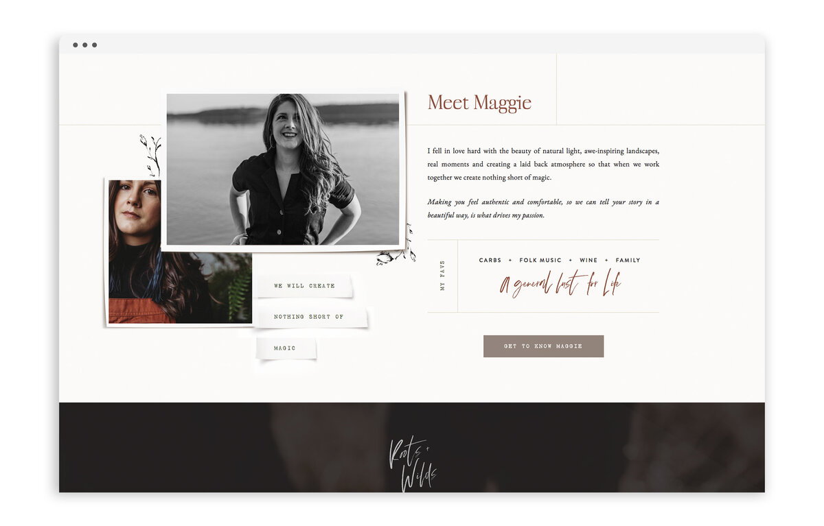 Roots and Wilds by Maggie Vetsch - Custom Brand and Showit Website Design by With Grace and Gold - Best Showit Designer - 19