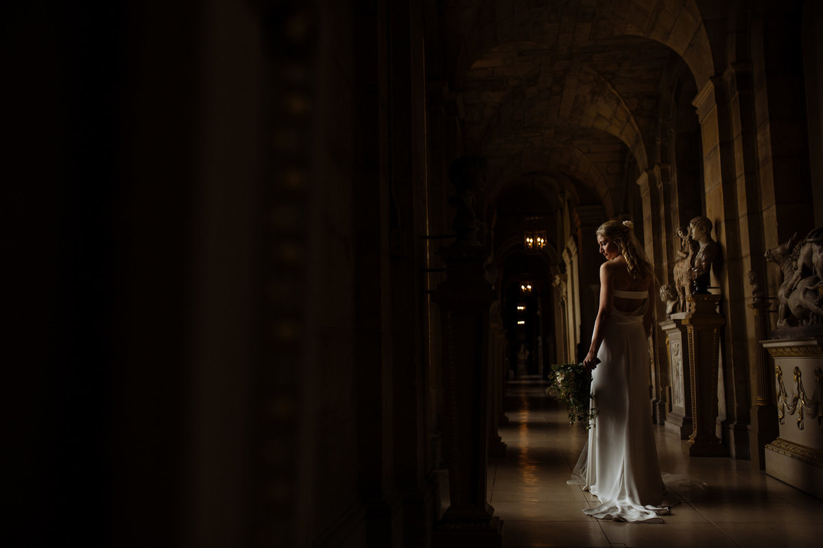 Bride at Castle Howard