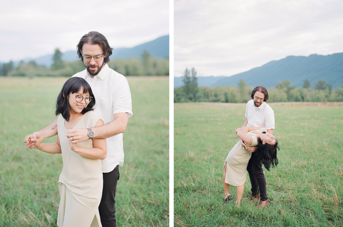 North Bend Engagement - Mountain View Engagement - Film Photography - Seattle Engagement Photographer - 3