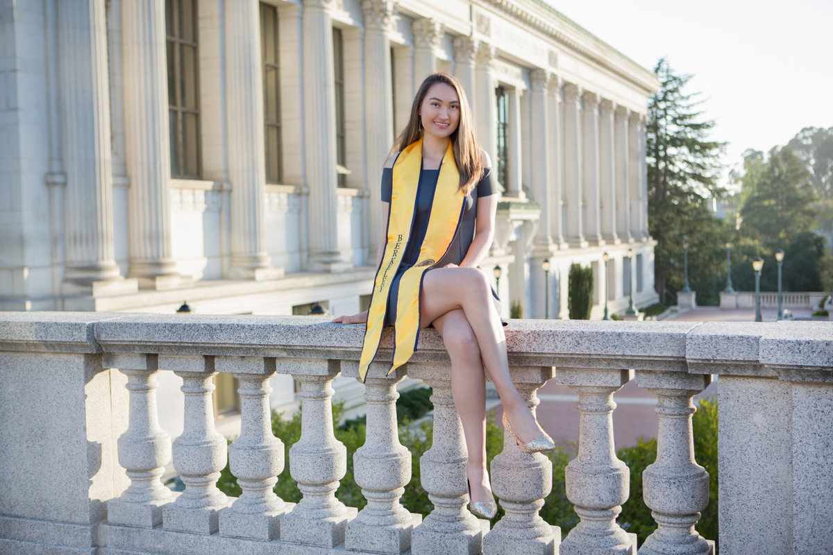 Senior Girl Portrait Graduate at UC Berkeley