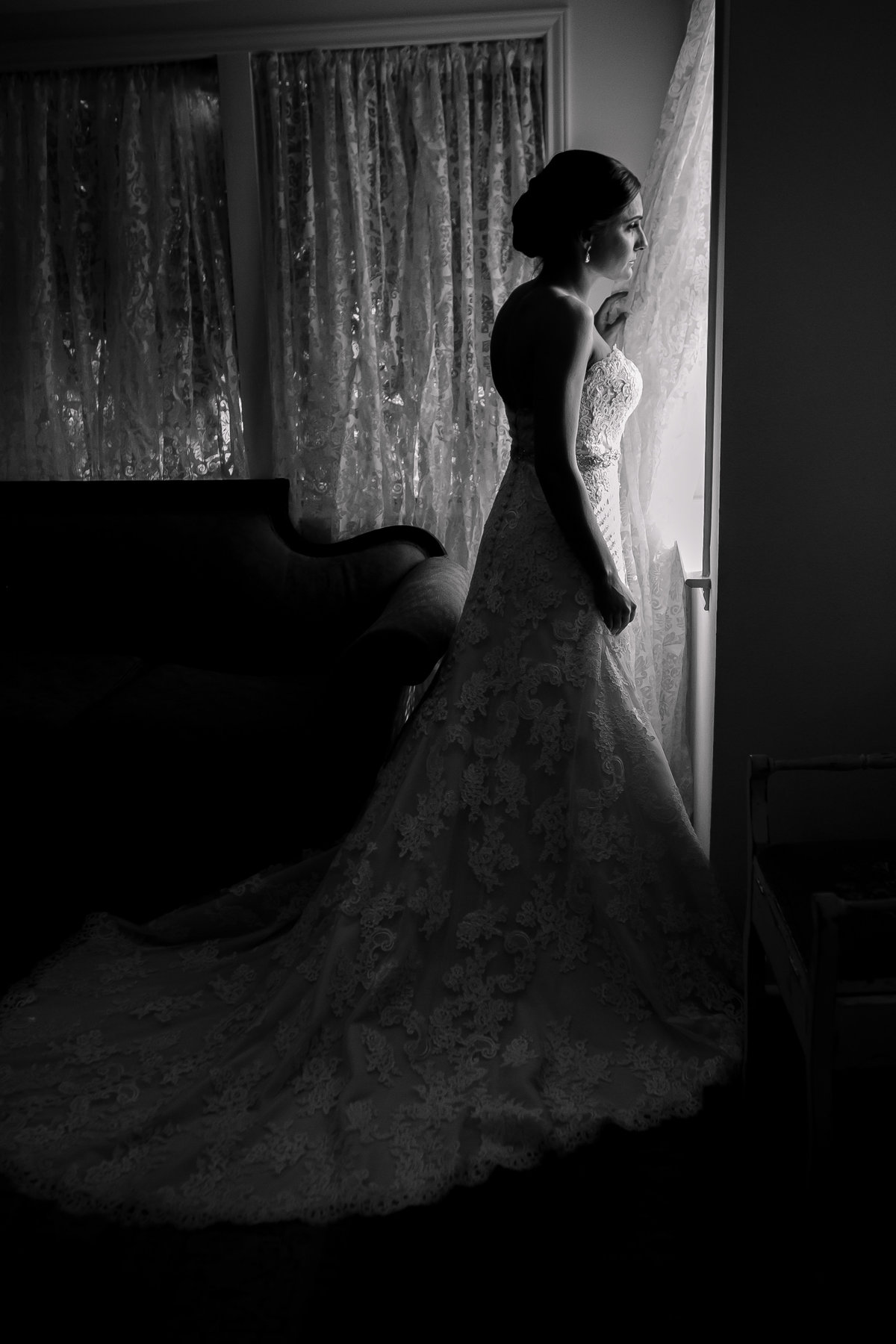 Austin Family Photographer, Tiffany Chapman Photography bride looking out the window photo