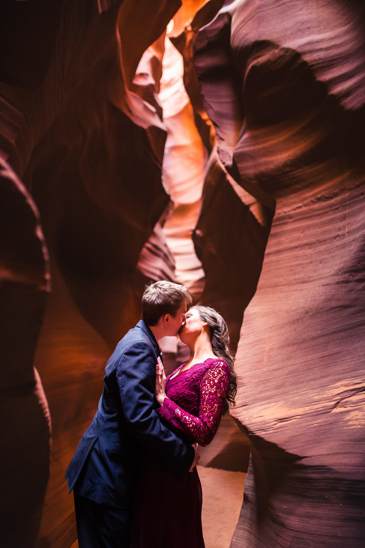 An adventure engagement session at Antelope, Canyon in Page, Arizona