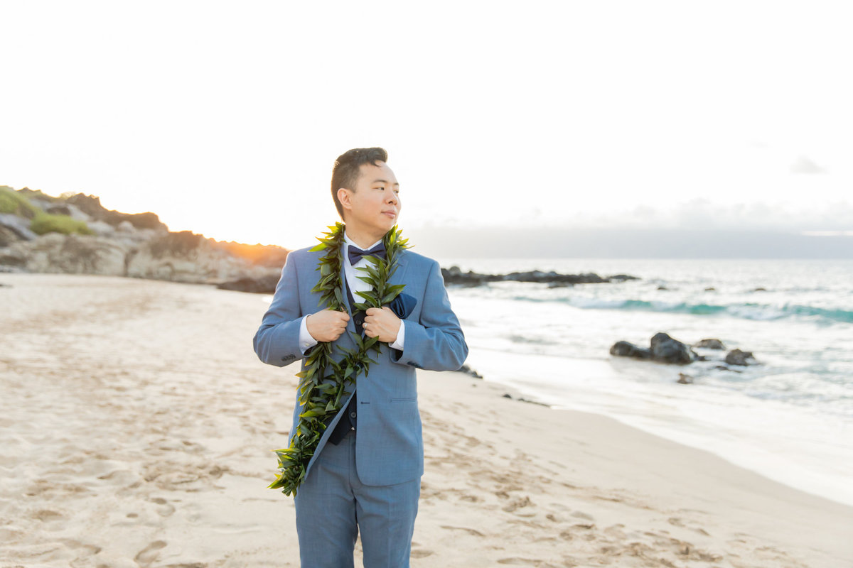 Maui wedding photography groom