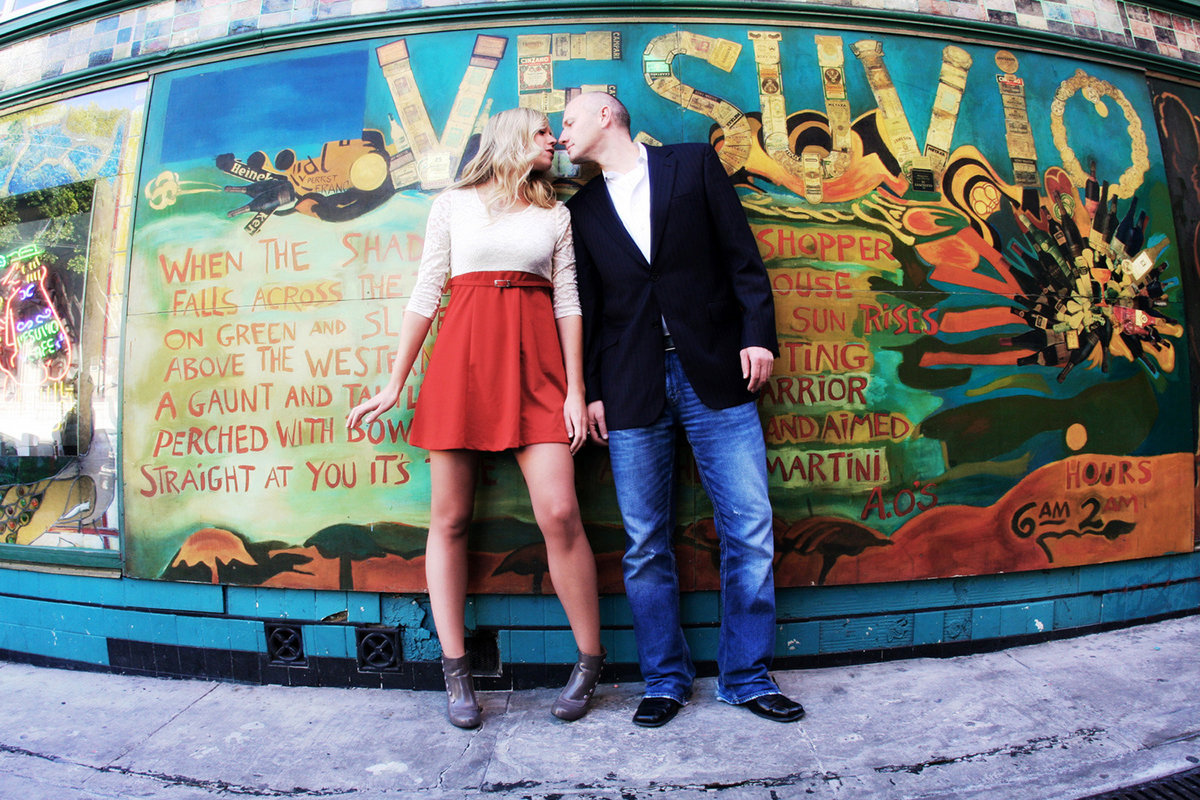 San Fran mural engagement photo