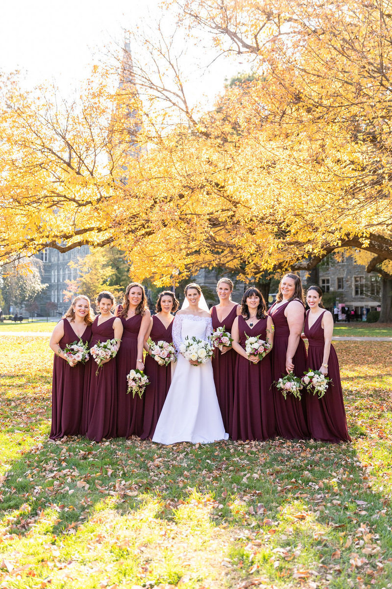 georgetown-fall-wedding-maroon-bridesmaid-dc