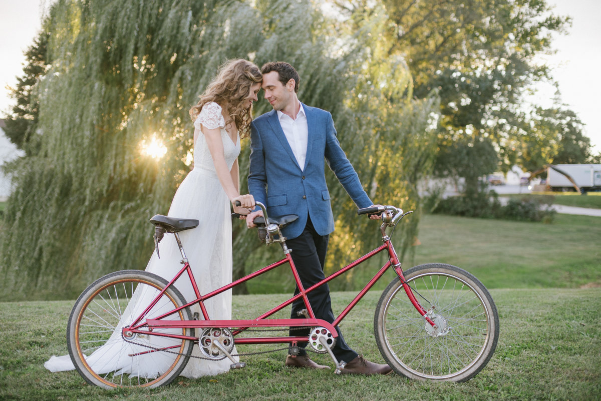 natural light soft bicycle tricycle golden hour sunset romantic love