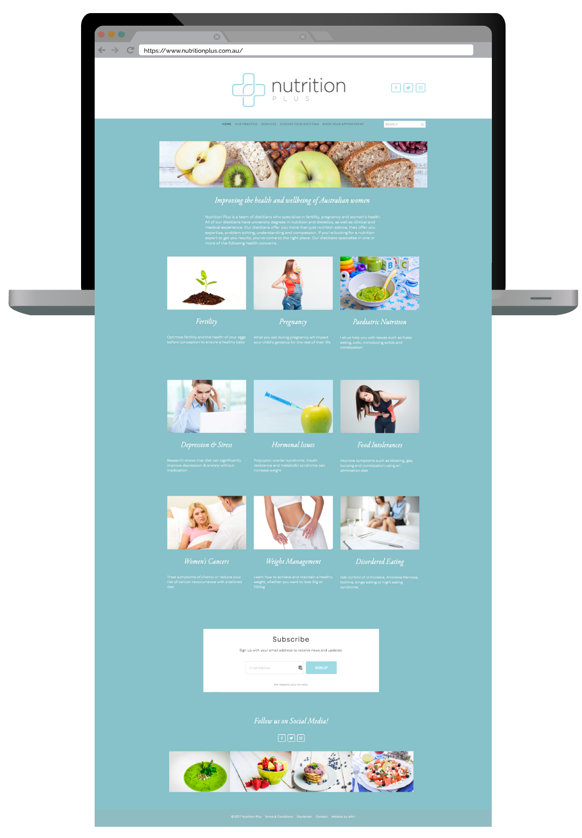 Nutrition Plus Website and Branding Design