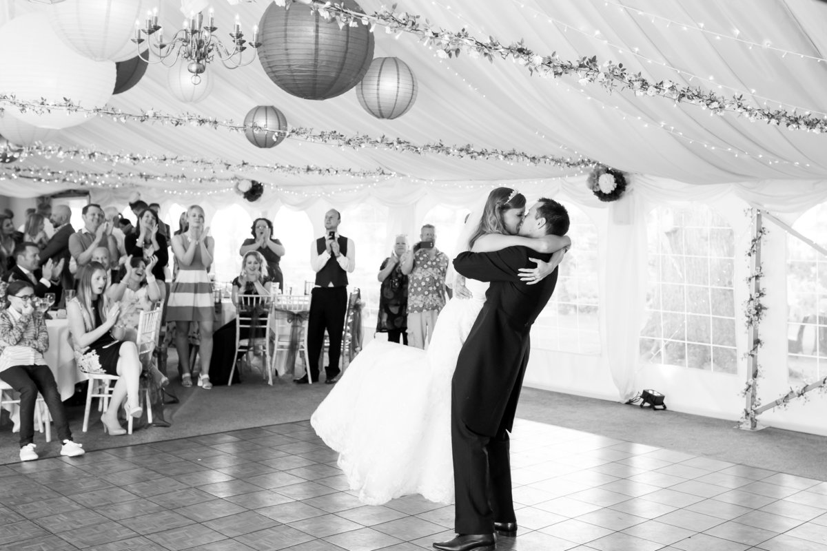 first dance at deer park wedding devon