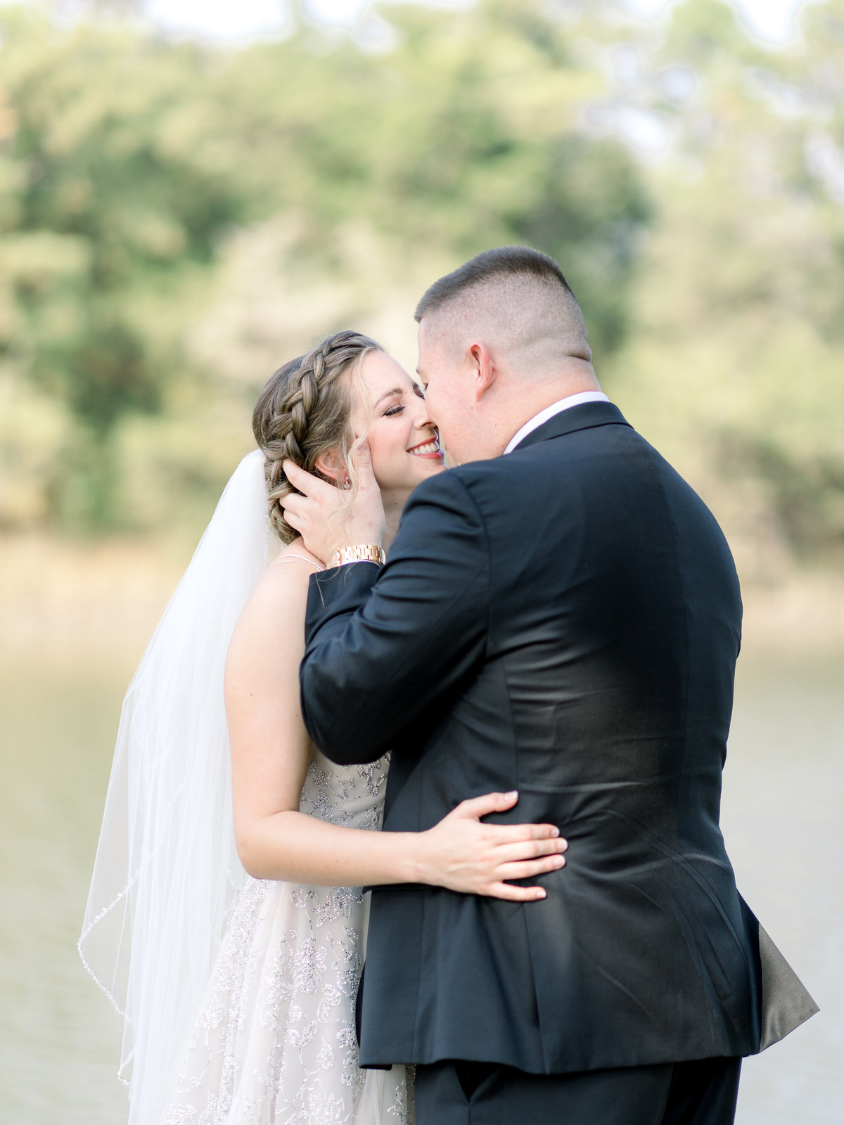 Washington DC Wedding Photography, bride and groom kissing