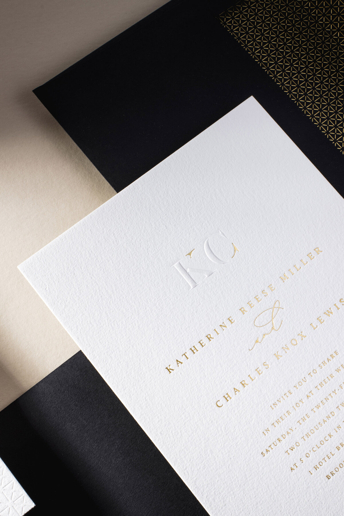 Classic Modern Custom Wedding Invitation | Nikisha King Design