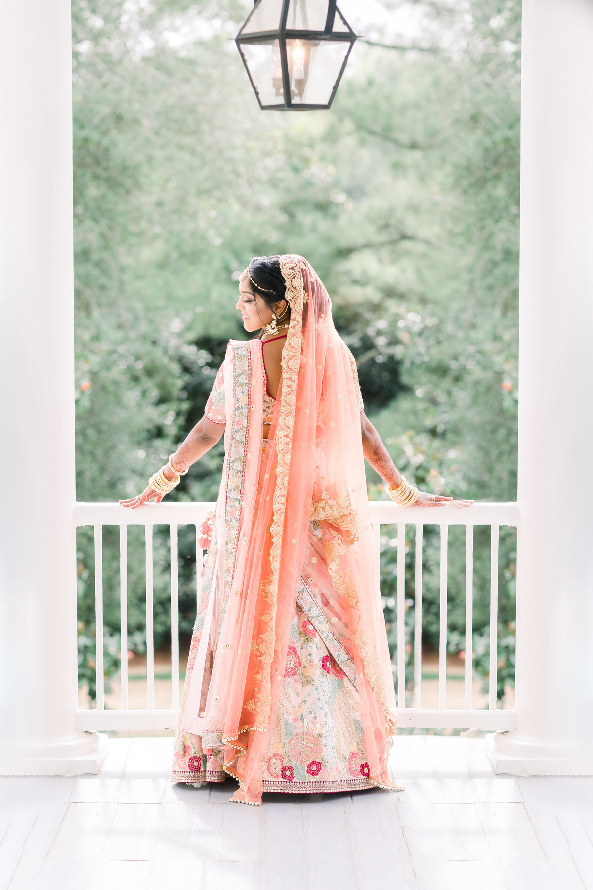 Raleigh NC Hindu Indian Wedding bride portraits at The Sutherland