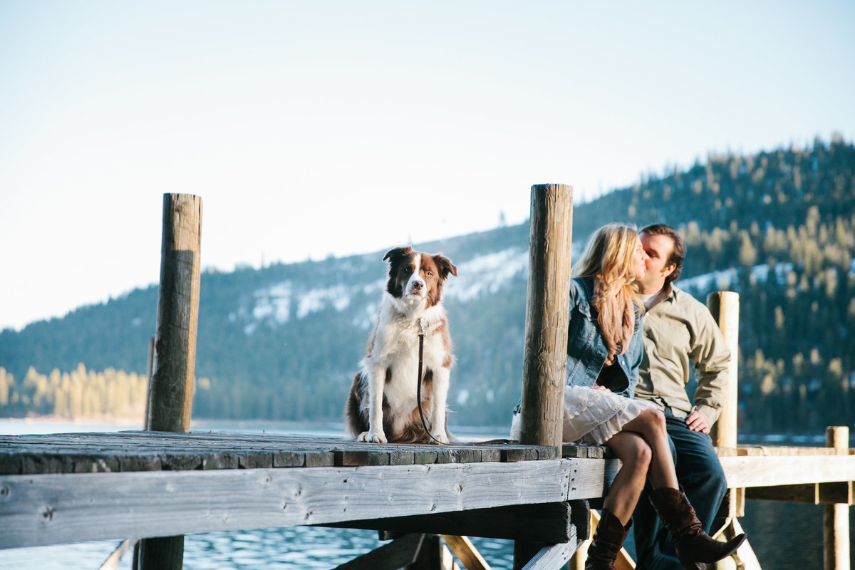 Donner Lake, Ca engagement photos