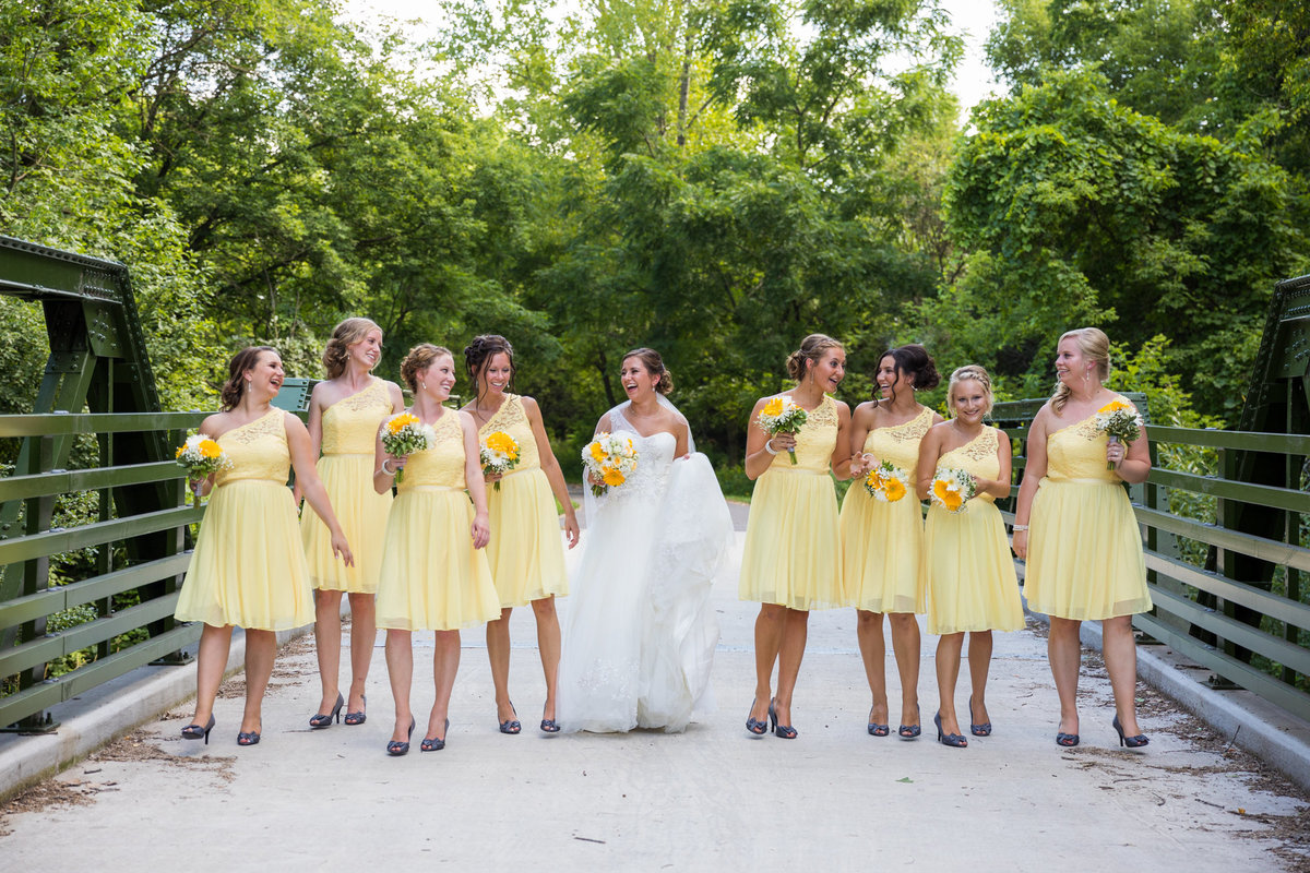 Wedding Photography - This was an amazingly colorful and magical day, complete with Bridesmaids dresses perfectly styled to match the Bride's personality