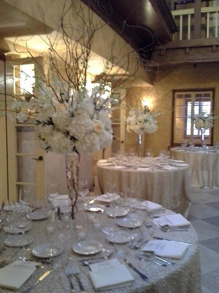 White orchids curly willow The Addison Wedding