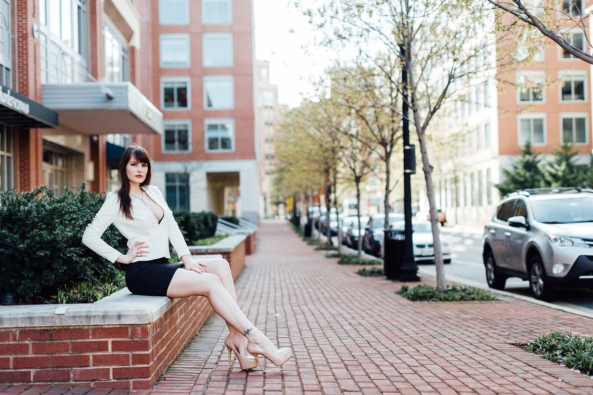 model-downtown-white-leather-jacket-fierce-alexandria-virginia-breaking-tradition