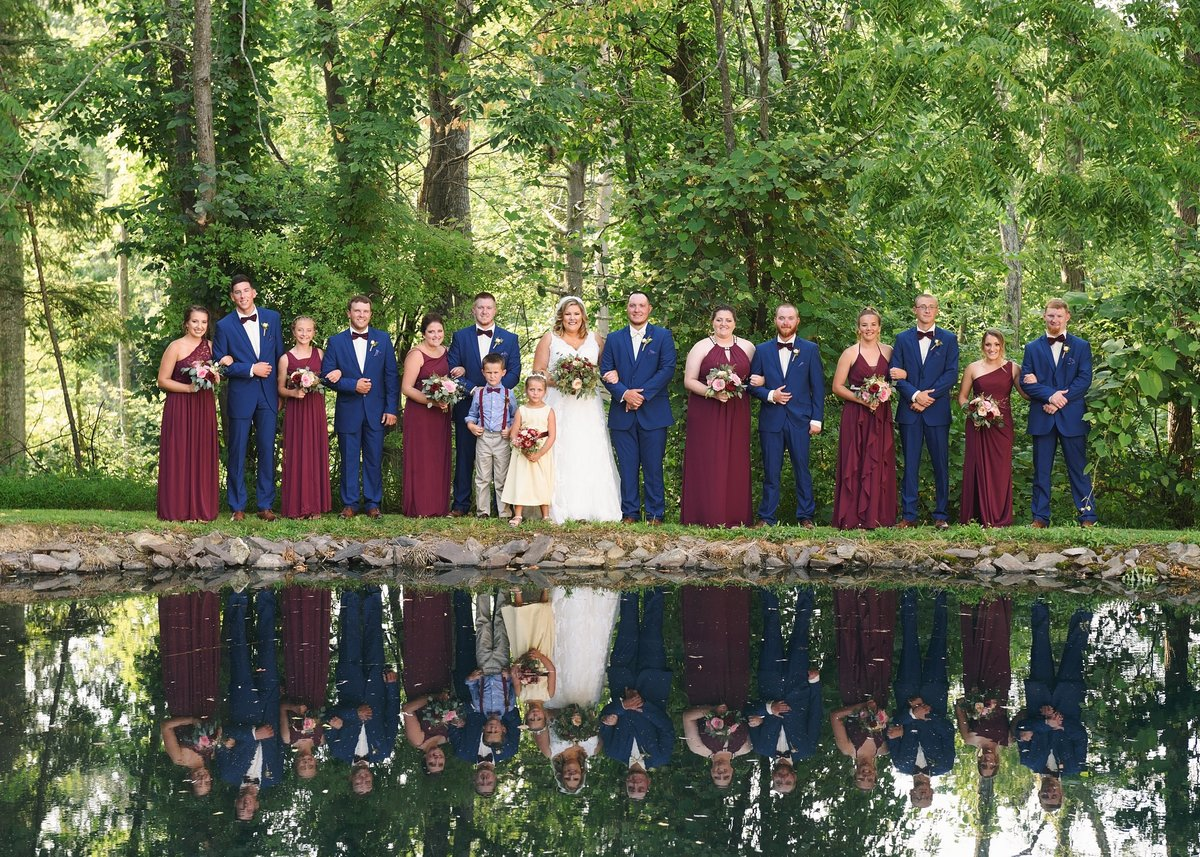 Wedding Party by Pond