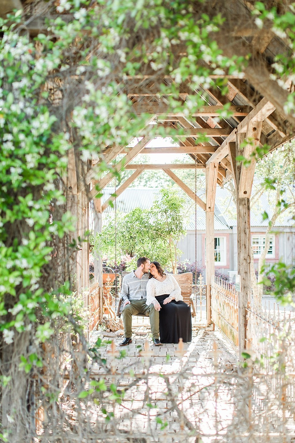 Spring Engagement Photos at Historic Downtown Gruene near New Braunfels, texas_0010